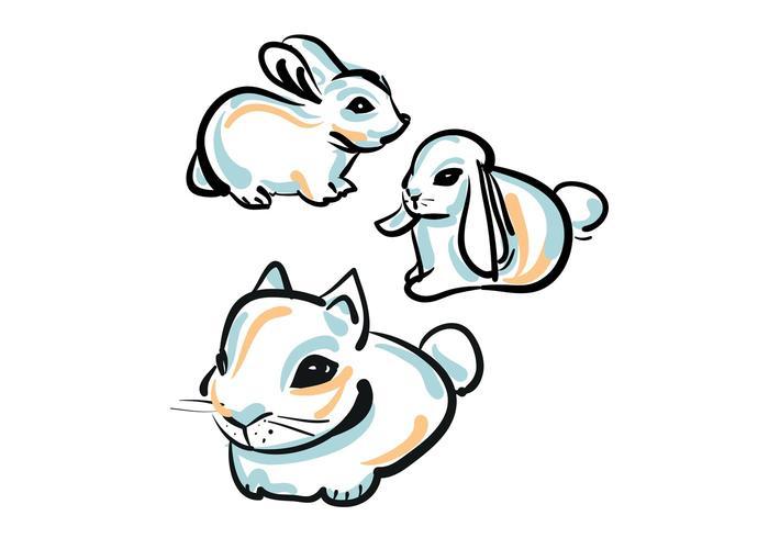 700x490 Free Cute Bunny Vector