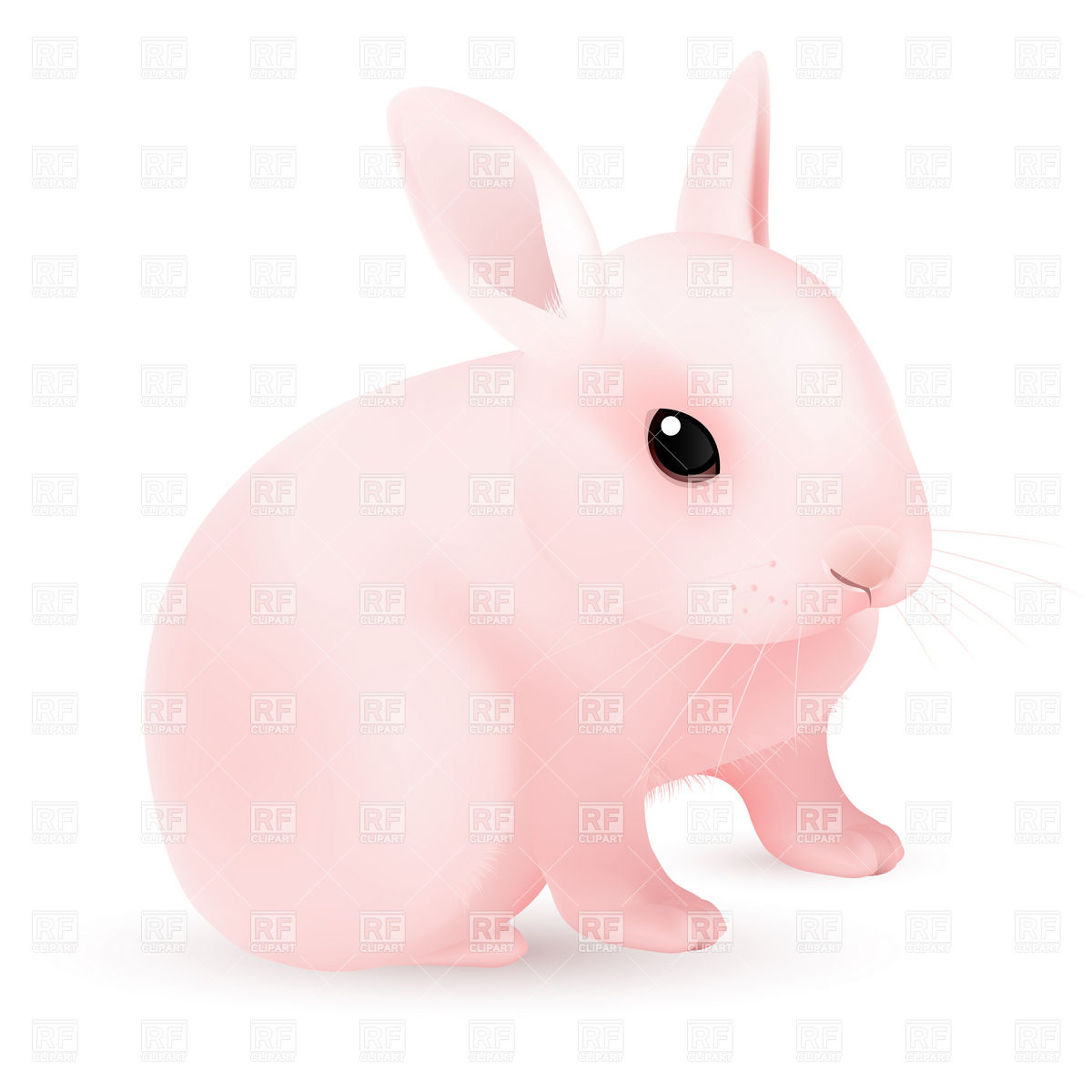 1200x1200 Pink Easter Bunny Vector Image Vector Artwork Of Plants And