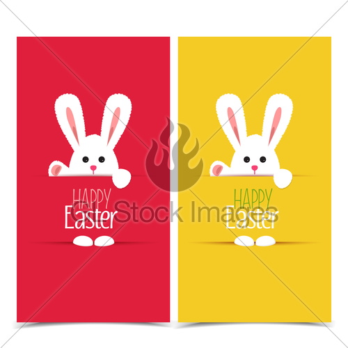 500x500 Vector Easter Bunny Gl Stock Images