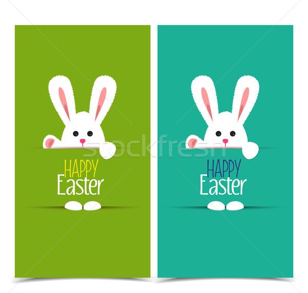 600x570 Vector Easter Bunny Vector Illustration Miroslava Hlavacova
