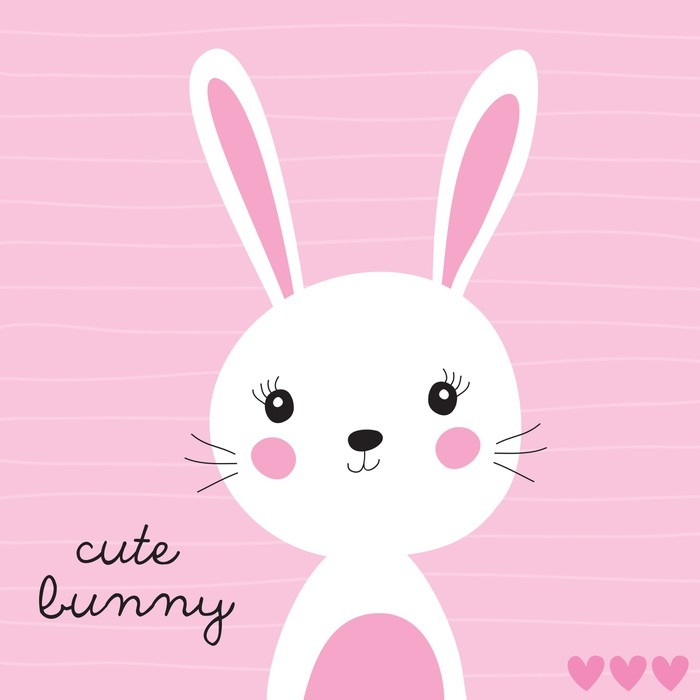 700x700 Cute Bunny Vector Illustration Poster We Live To Change