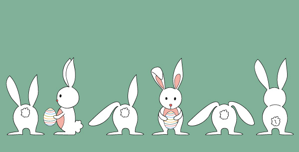 600x306 Cartoon Hold Easter Egg Bunny Vector Cartoon Free Vector Free Download