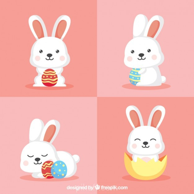 626x626 Ai] Funny Bunny Pack Vector Free Download
