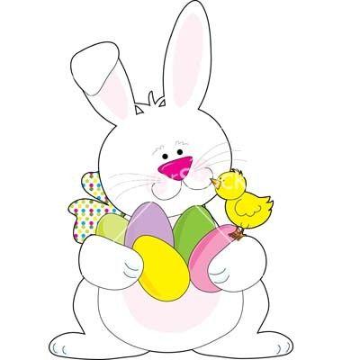 380x400 Easter Rabbit Vector Free