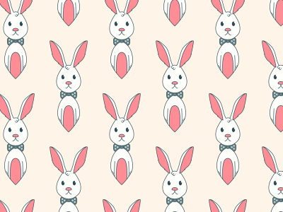 400x300 Free Bunny Vector Seamless Vector Pattern By Download Pattern