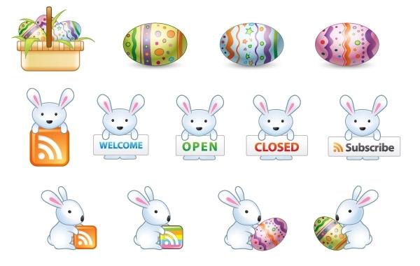 600x380 Free Vectors Free Easter Bunny Vector Icons Webdesignhot