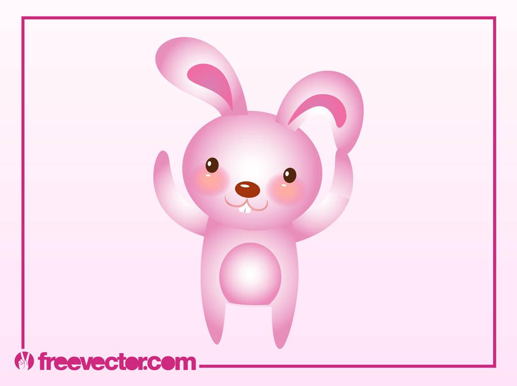 1024x765 Pink Bunny Vector Vector Art Amp Graphics