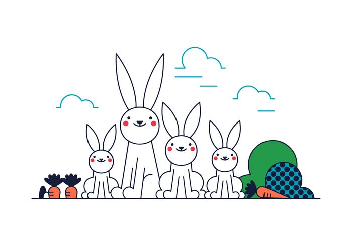 700x490 Bunny Free Vector Art