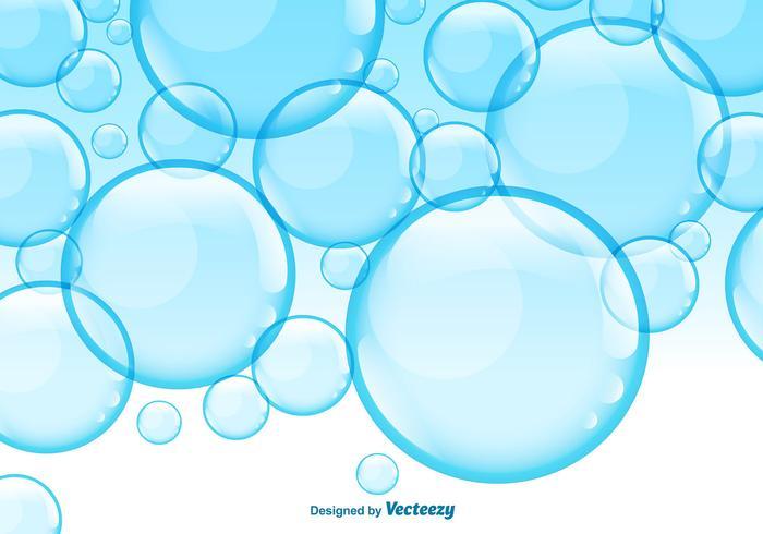 700x490 Fondo Azul De Las Burbujas Del Del Vector
