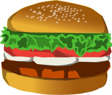 425x362 Free Download Of Burger Clip Art Vector Graphic