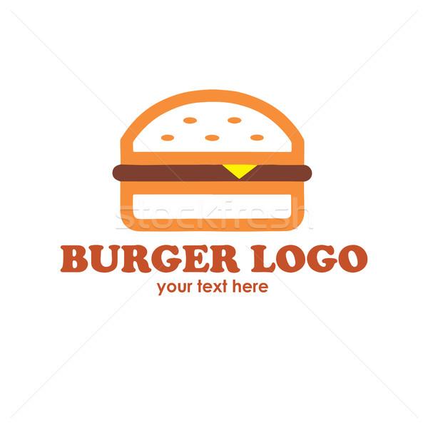 600x600 Hot Burgers Logo Vector Illustration Doddis Doddis (Doddis