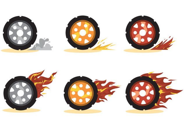 632x443 Burnout Wheel Vector Set Free Vector Download 391509 Cannypic