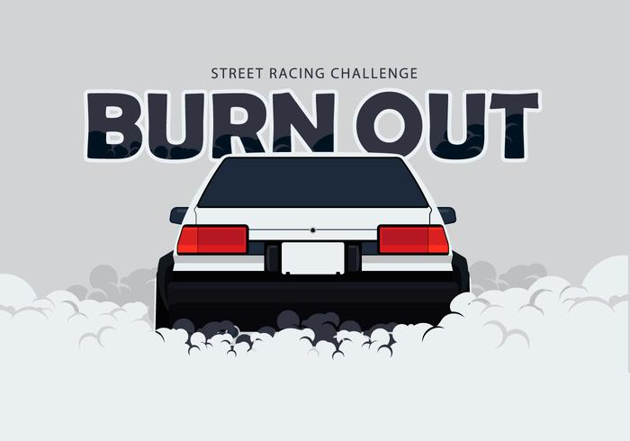 700x490 Ae86 Car Drifting And Burnout Illustration