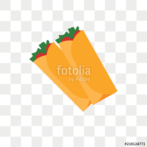 500x500 Burrito Vector Icon Isolated On Transparent Background, Burrito