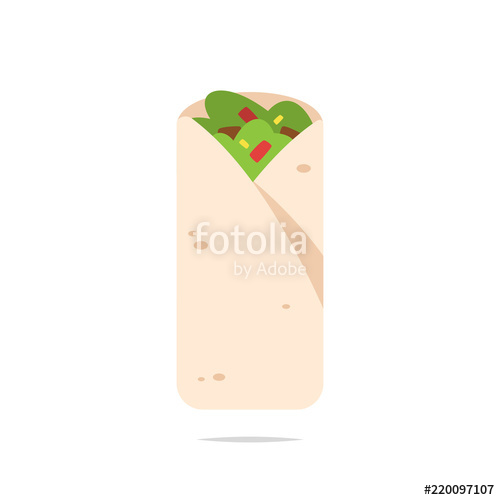 500x500 Burrito Vector Isolated Illustration Stock Image And Royalty Free