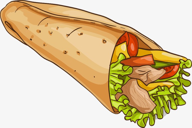 650x434 Vector Cartoon Burrito, Burrito, Cartoon Burrito, Vector Burrito