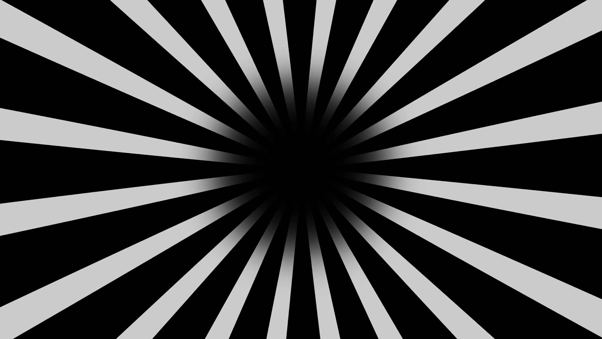 1920x1080 Black And White Burst Vector Background. Cartoon Comic Background