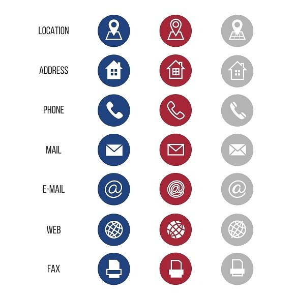 580x580 Business Card Icons Vector Best Of Munication Icons For Business Cards
