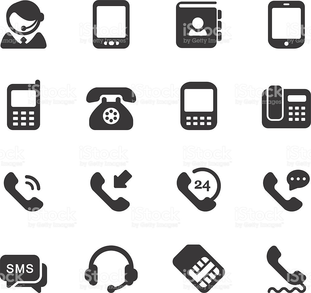 1024x967 Business Card Icons Vector Elegant Telephone Icons Stock Vector