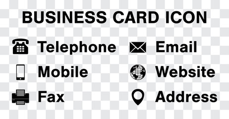 462x240 Business Card Icons Photos, Royalty Free Images, Graphics, Vectors
