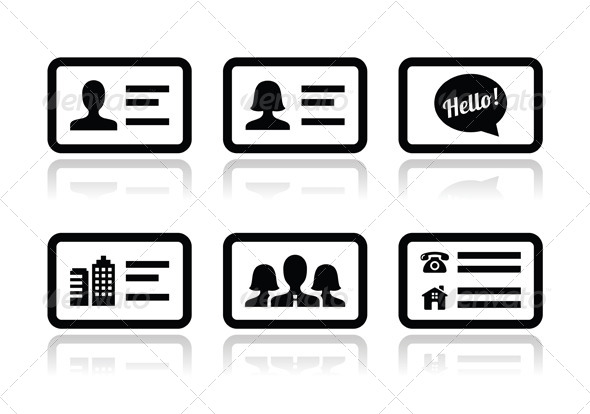 590x414 Business Card Vector Icons Set By Redkoala Graphicriver