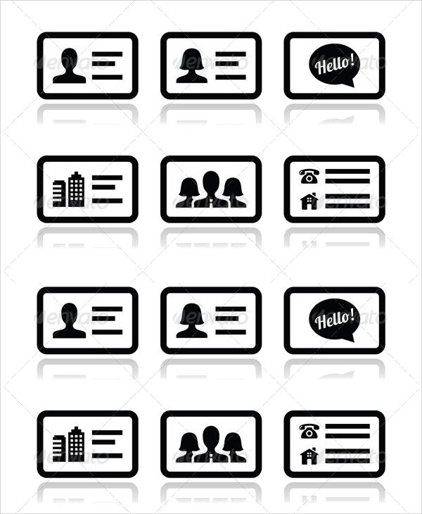 600x730 Business Card Icons