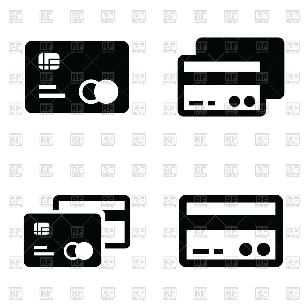 1200x1200 Credit Card Icons Vector Image Vector Artwork Of Business