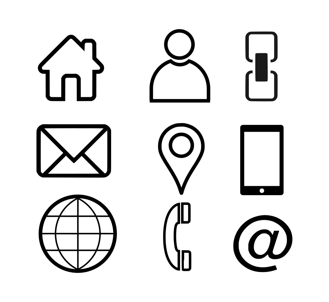 1063x975 Epic Business Card Icons Vector