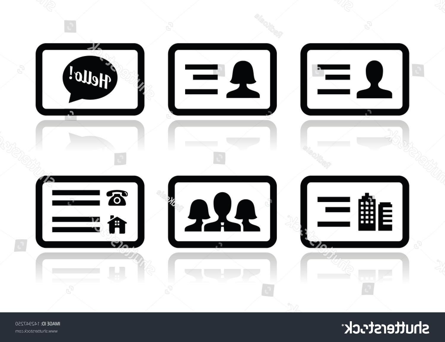 1500x1153 Best Stock Vector Business Card Icons Set File Free