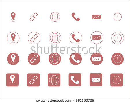 450x358 Free Minimal Style Contact Icons Download Free Vector Art Stock