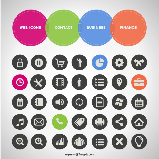 626x626 General Business Set Of Icons Vector Free Download
