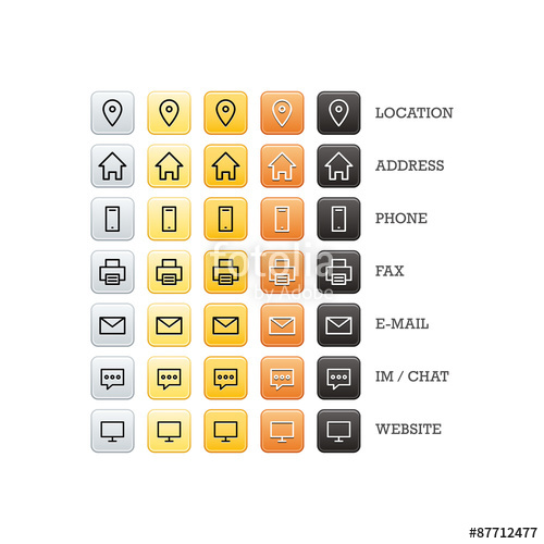 500x500 Multipurpose Business Card Set Of Web Icons For Business, Finance