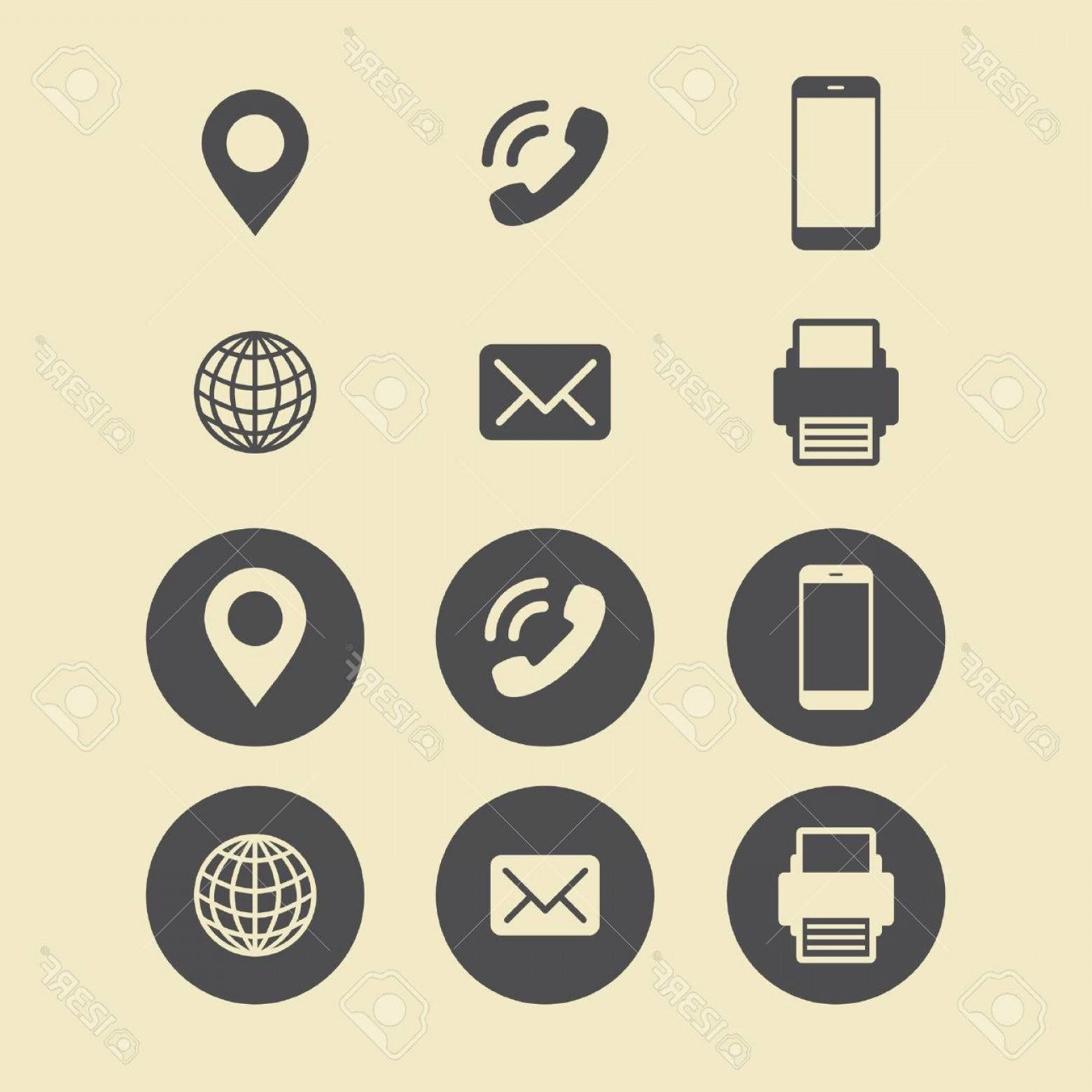 1560x1560 Photostock Vector Business Card Icon Set Web Icons Shopatcloth