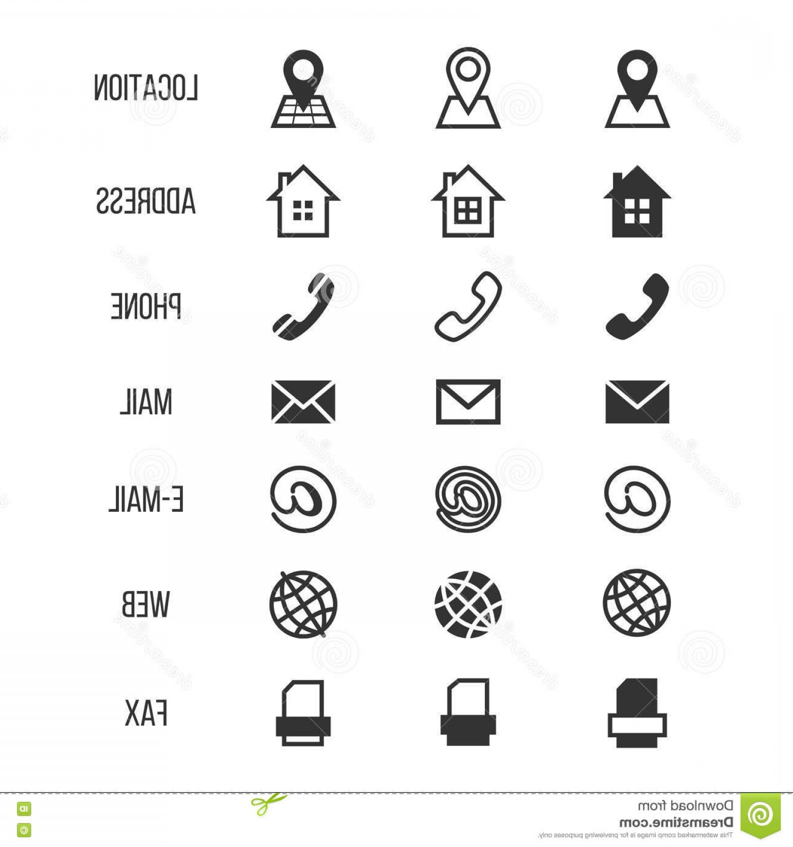1560x1668 Stock Illustration Business Card Vector Icons Home Phone Address