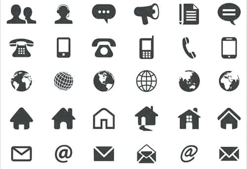 500x343 Business Card Free Vector Icons More Than A Million Free Vectors