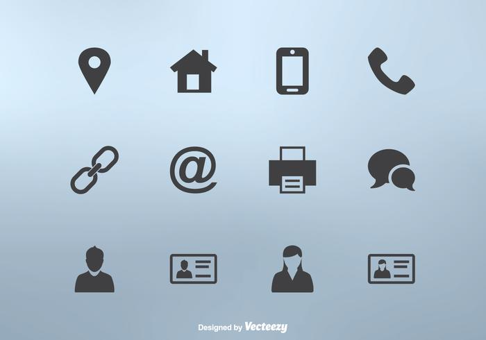 700x490 Business Card Icon Set Vector