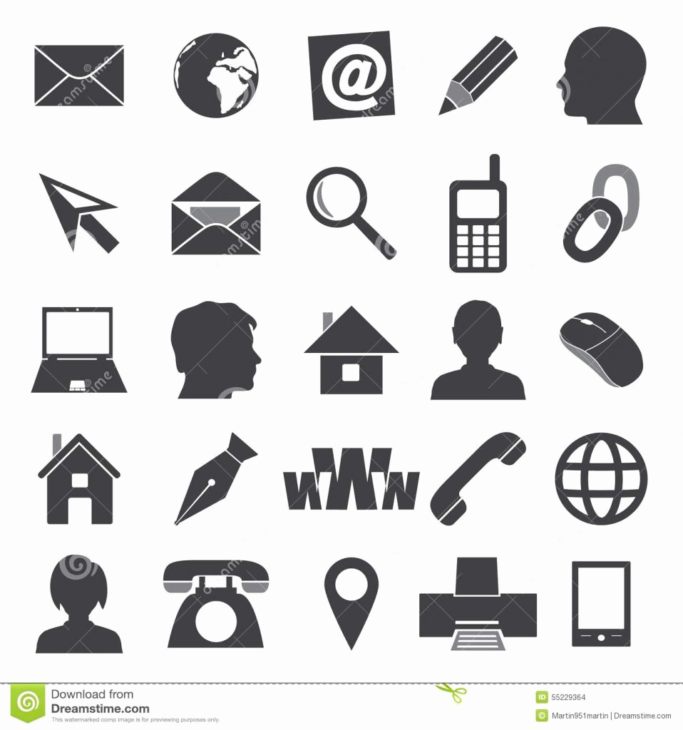 958x1024 Free Business Card Icons Unique Free Icons Set Download