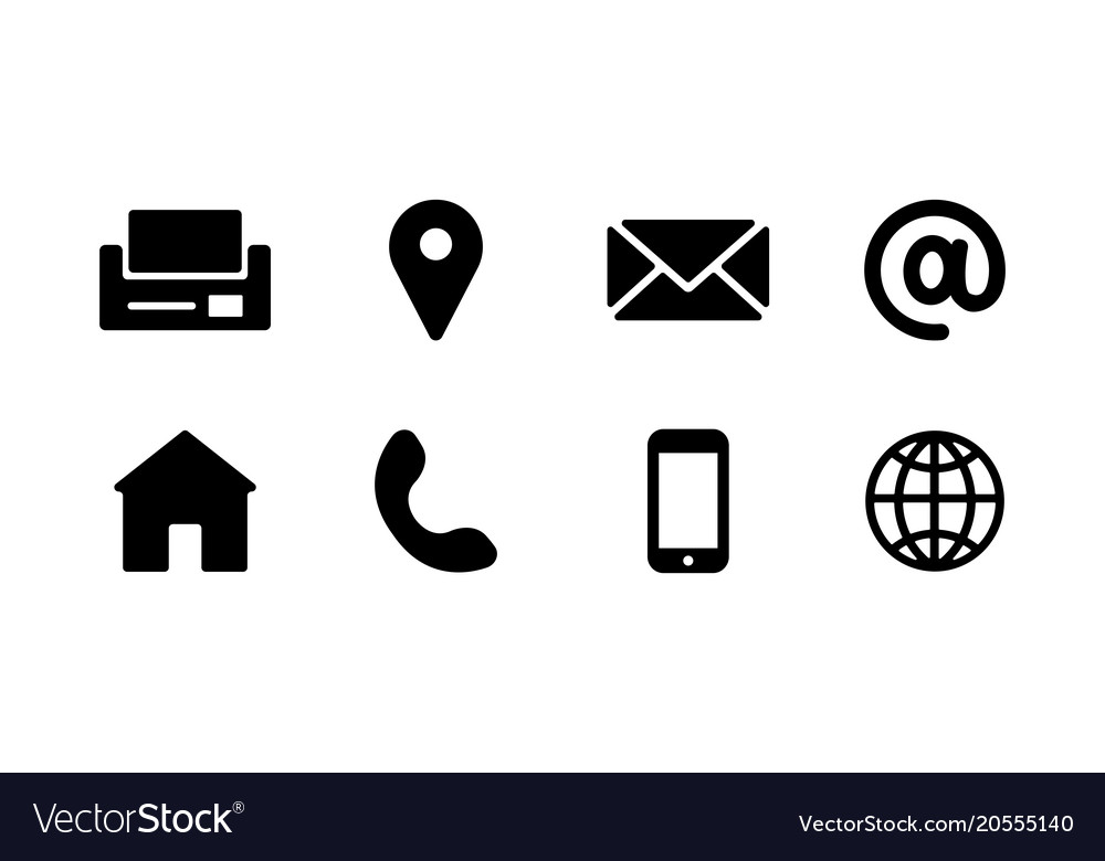 1000x780 Free Vector Business Card Icons (8 Images)
