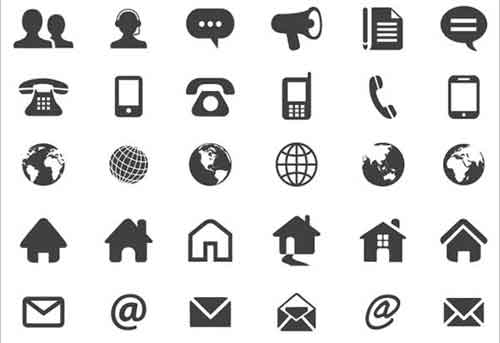 500x343 Free Vector Business Card Icons Vector Icon Set 100 Icons Free