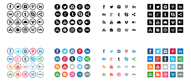 800x347 54 Beautiful [Free!] Social Media Icon Sets For Your Website