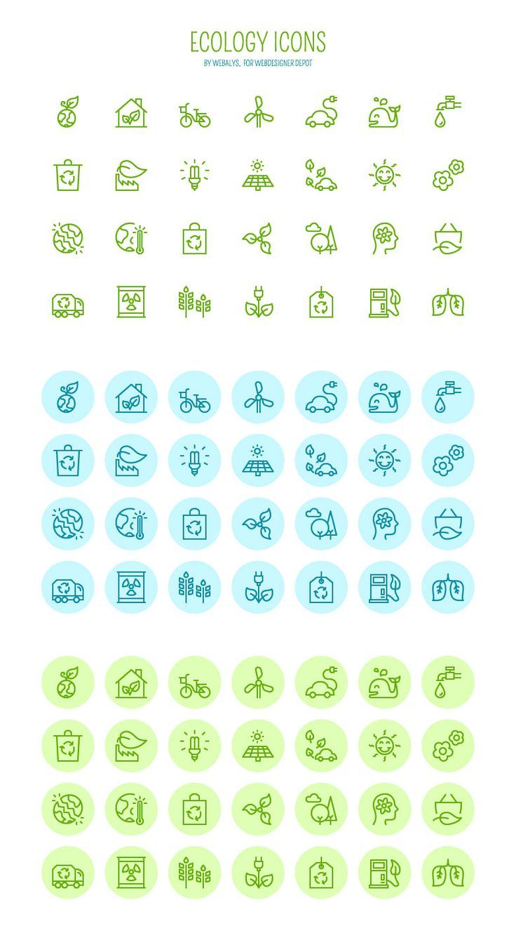 736x1336 Free Download Vector Ecology Icons Free Icons