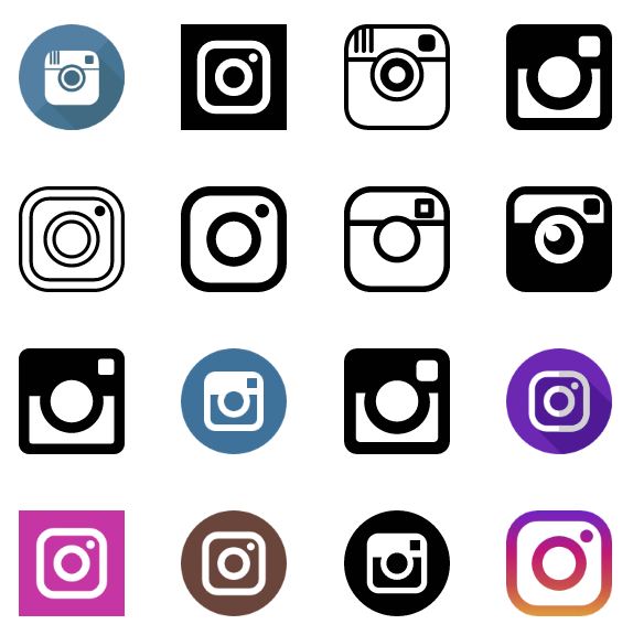 574x576 60 Instagram Icons Vector (,eps + Svg) For Free Download In 2018