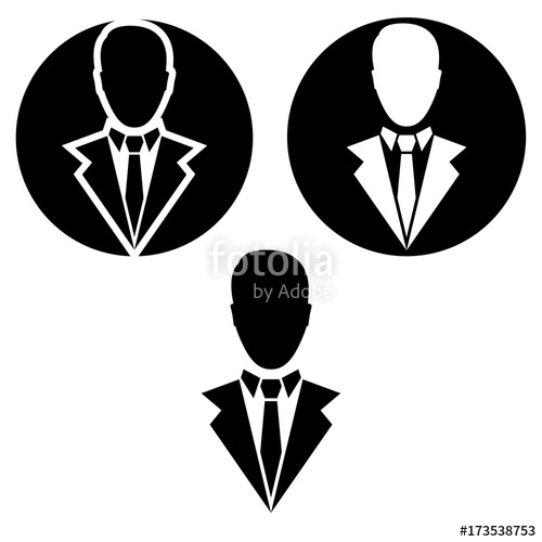 500x500 Businessman Vector Icon. Businessman Logo Stock Image And Royalty