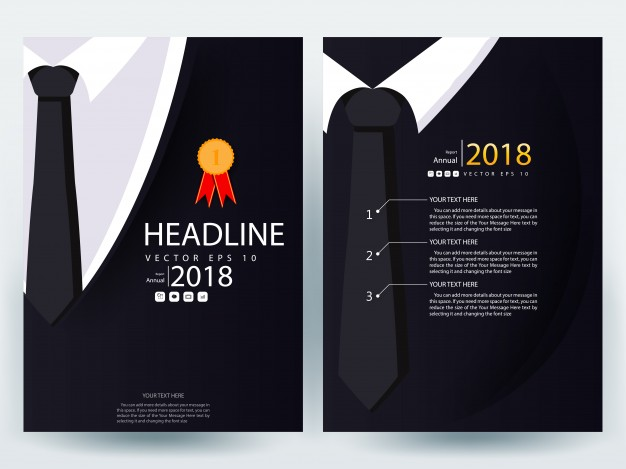 626x469 A4 Brochure Layout Template With Black Business Suit Vector