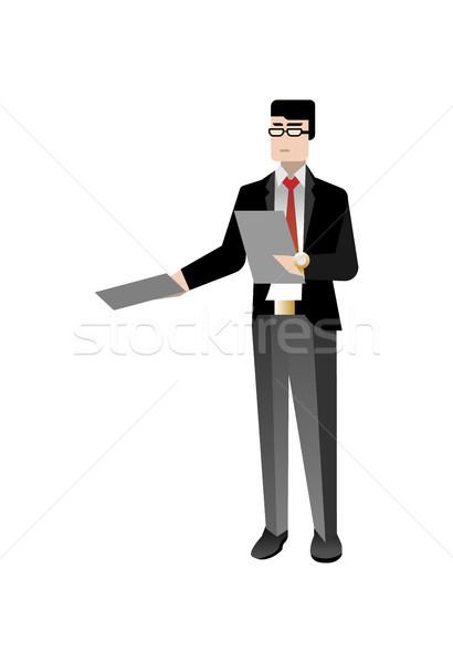 410x600 European Businessman In Business Suit Vector Illustration Sergei