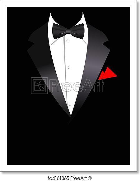 450x580 Free Art Print Of Vector Illustration Of Elegant Suit. Vector