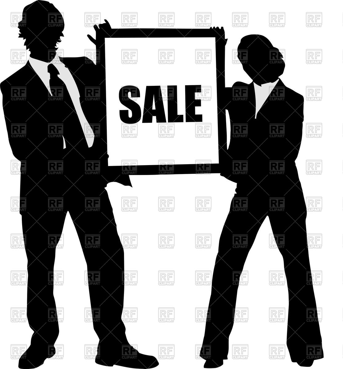 1115x1200 Man And Woman Silhouettes In Business Suits Vector Image Vector