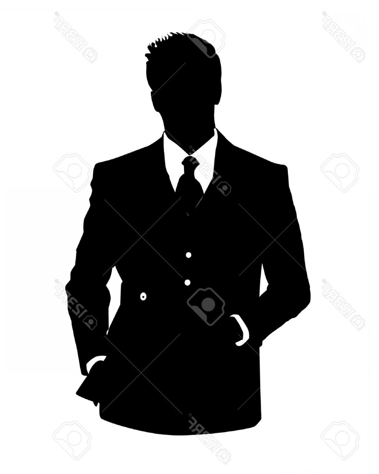 1248x1560 Photographic Illustration Of Man In Business Suit As User Icon