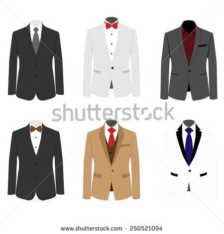 450x470 Set Of 6 Illustration Handsome Business Suit Image Id250521094