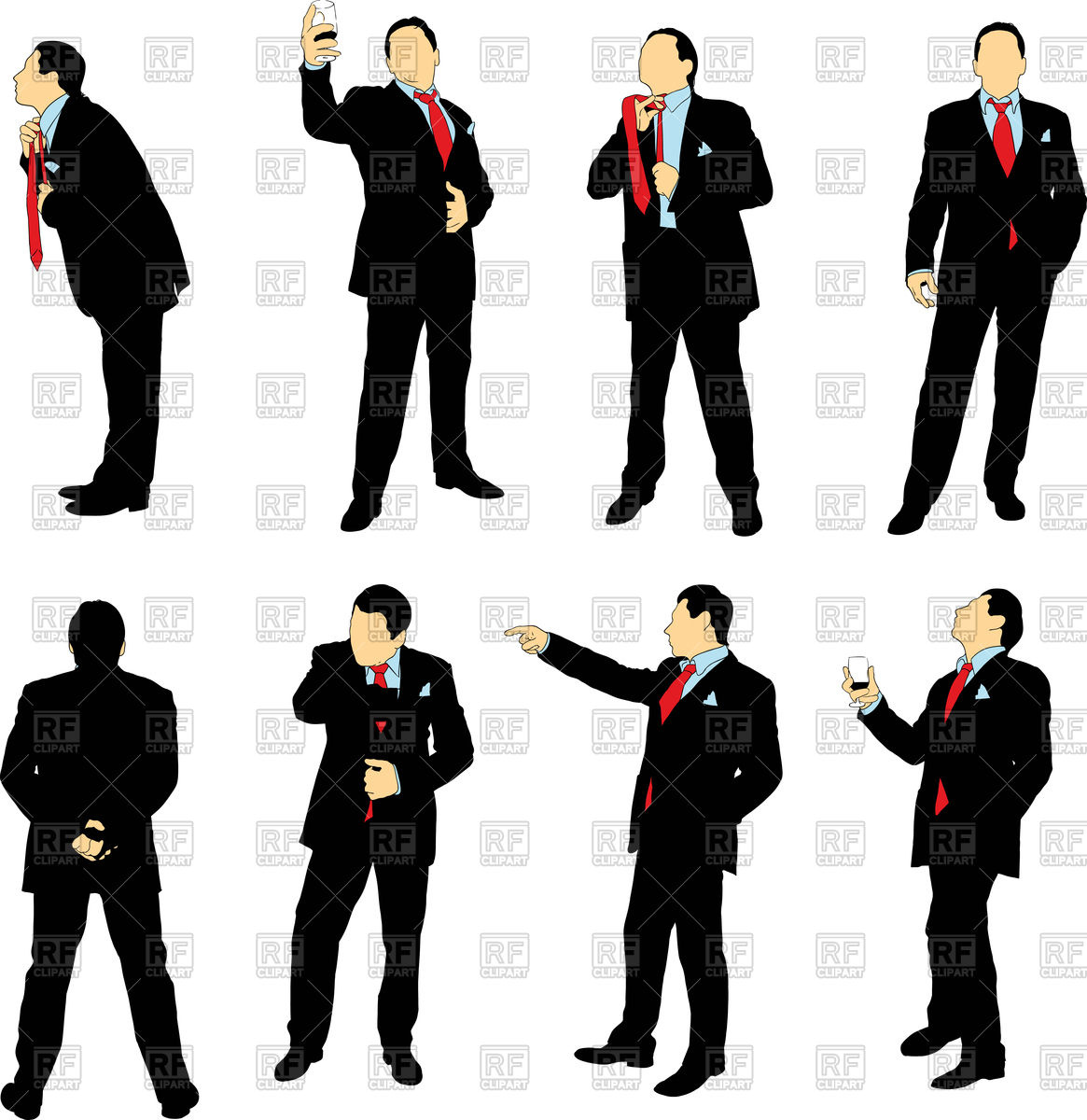 1165x1200 Silhouettes Of Businessmen In Business Suit Vector Image Vector